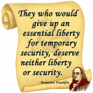Ben Franklin - Essential Liberty