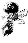Afro rock guitarist