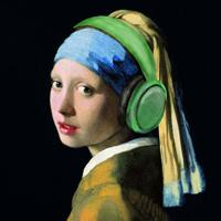 Girl With The Green Headphones