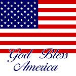 God Bless American / USA Flag