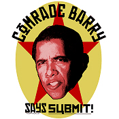 Copy of Obama Comrade Barry Says SUBMIT T-Shirts