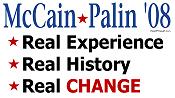 McCain/Palin Real Experience Real Change