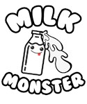Milk Monster Funny Kids Cute Baby