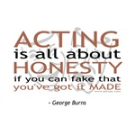 George Burns Quote on Acting T-shirts & Gifts