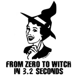 Zero to Witch 50's Style - B&W (w/o circle)