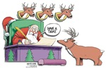 Reindeer is naughty Design