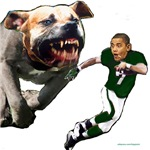Obama running from pit bull