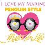 I Love My Marine Penguin Style