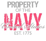Property of the US Navy (Pink)