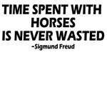 Time spent with horses is never wasted. Quotes