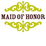 Maid of Honor (Chocolate Brown and Lime)