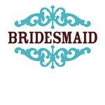 Bridesmaid (Chocolate Brown and Tiffany Blue)