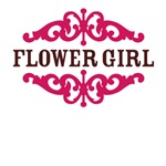 Flower Girl (Hot Pink and Chocolate Brown)
