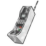 Worn 80s Cellphone