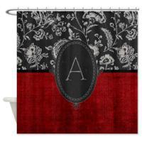 Gothic Monogram Shower Curtains