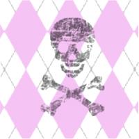 Skully Pink Plaid