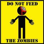 Do Not Feed the Zombies.  They will get angry.  Show your lover for everything horror, halloween and zombie with this great Zombie t-shirt.