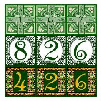 House Exterior Address Tiles
