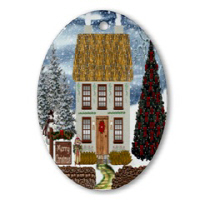 Christmas Oval Ornaments