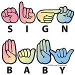 Captioned SIGN BABY SQ