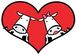 Valentine Cows Love