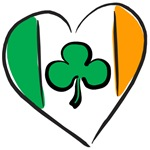 Irish Heart Shamrock T-Shirts