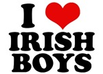 I Love Irish Boys Red Heart T-Shirts