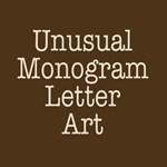 Unusual Monogram Letter Art