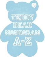 Cute teddy bear monogram