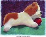 Plush Dog by Linda Hopwood