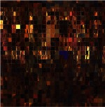 Iridescent Metallic Copper and Cobalt Tile Mosaic