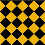 Sports Team Colors Gold Black Argyle