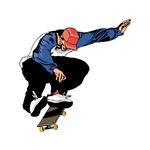 Extreme Skateboarding Jump