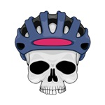 Cycling Skull Head