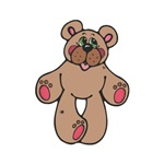 Cute Country Style Brown Stuffed Teddy Bear