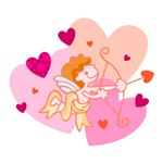 Cute Little Cupid Shooting Arrow