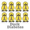 Diabetes Awareness Ribbon Ducks