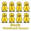 Childhood Cancer Awareness Ribbon Ducks