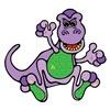Cute Purple T-Rex Dinosaur