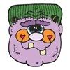 Goofy Purple Frankenstein Head