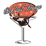 Retro Cocktail Lounge Pin Up Girl
