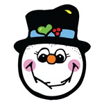 Cute Silly Snowman Face