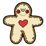 Happy Heart Gingerbread Man