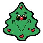 Cute Happy Christmas Tree
