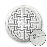 Celtic Paper Cutout Knot Buttons