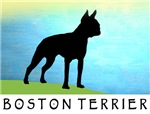 Boston Terrier Bright Sky