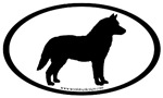 Siberian Husky Dog Oval
