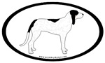 Ariegeois Dog Breed Oval Stickers