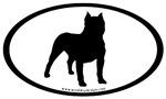 Bulldog Dog Breed Oval Stickers