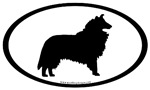 Collie Dog Breed Oval Bumper Stickers